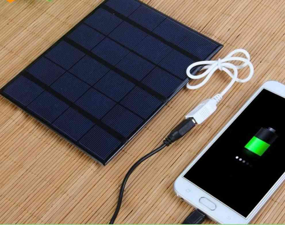 6v 3.5w Portable Solar Panel Battery Charger With Usb Port