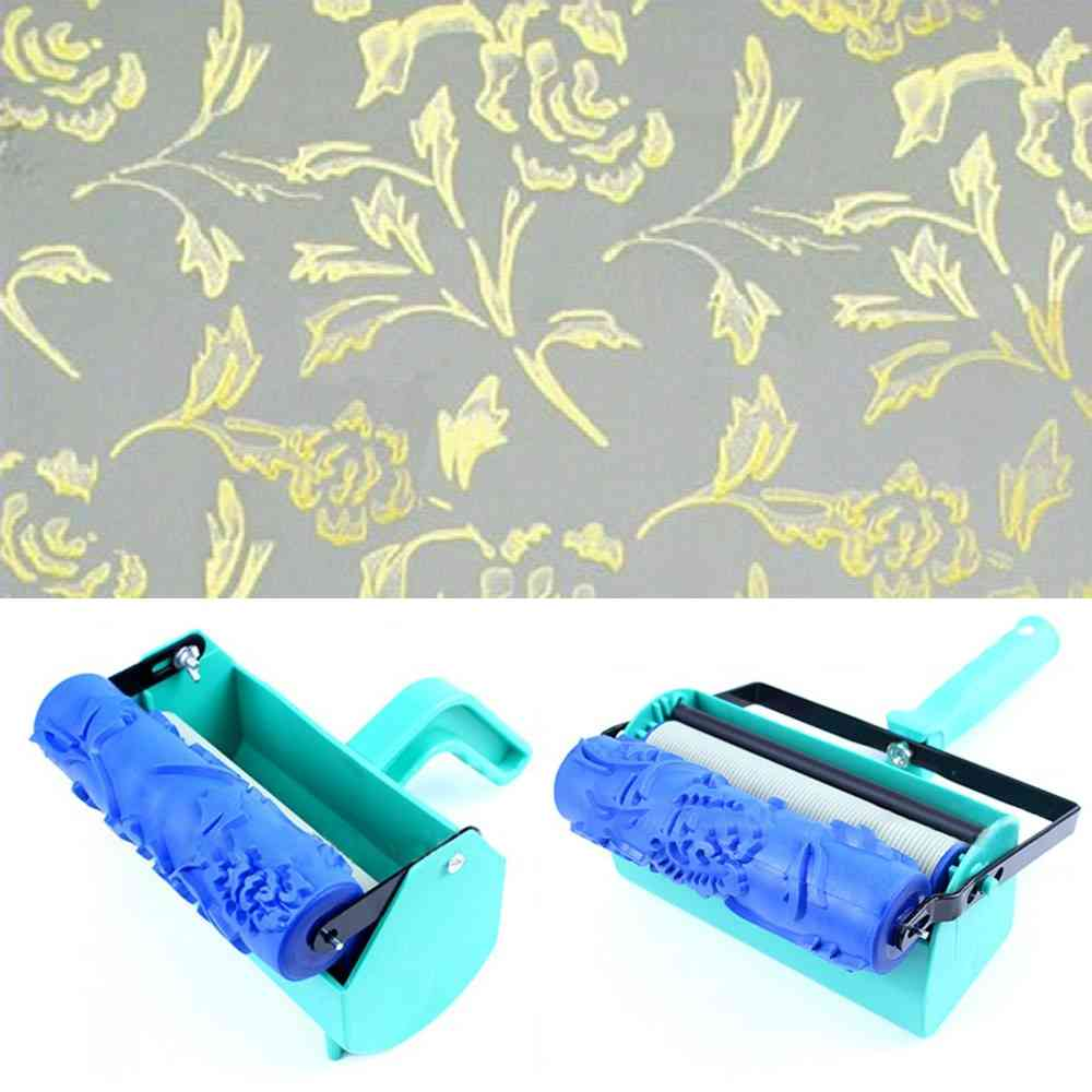 3d Rubber Wall Decorative Painting Roller - Patterned Tools Without Handle Grip