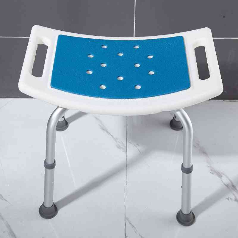 Bathroom Shower Stool - Adjustable Height Chairs Without Backrest