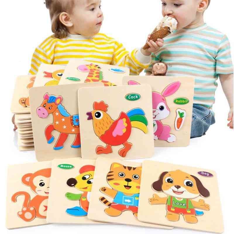 3d Puzzle-educational, Brain Teaser, Wooden Shapes For Kids