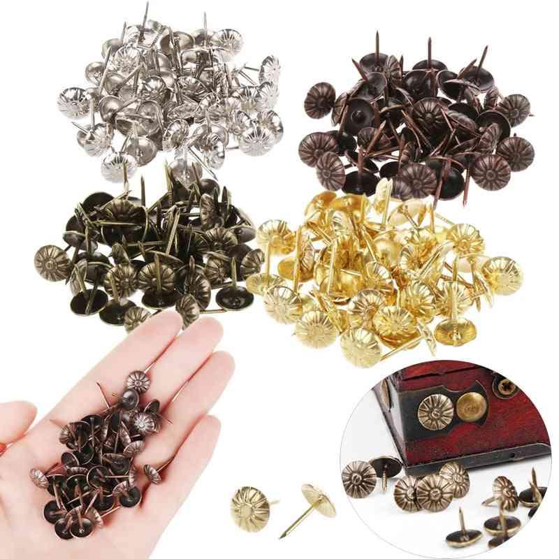 Tacks Antique Jewelry & Wine Case Box Push Pin Door Nail