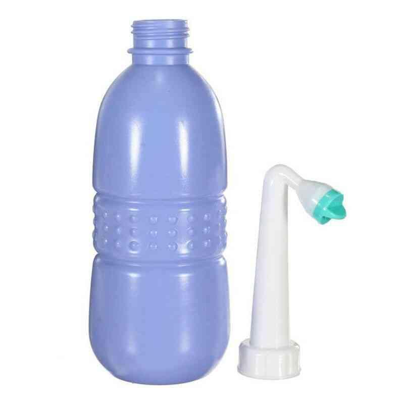 Portable Empty Bidet Bottle, Handheld Spray Nozzle