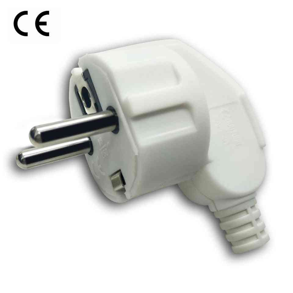 European Ac Power Electrica Plug- Male Sockets Outlets Adapter