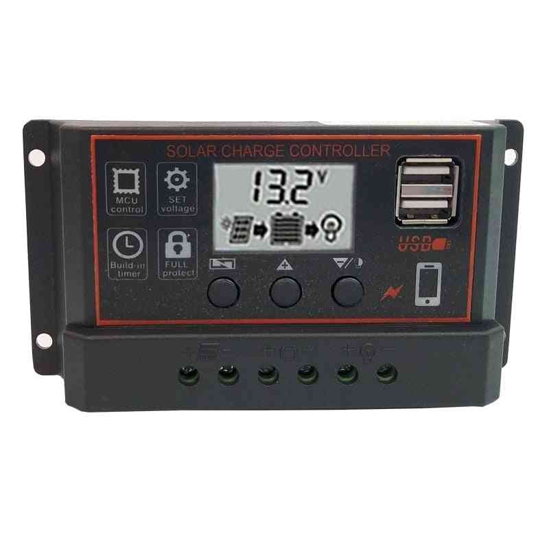 Solar Charge And Discharge Controller With Lcd Display