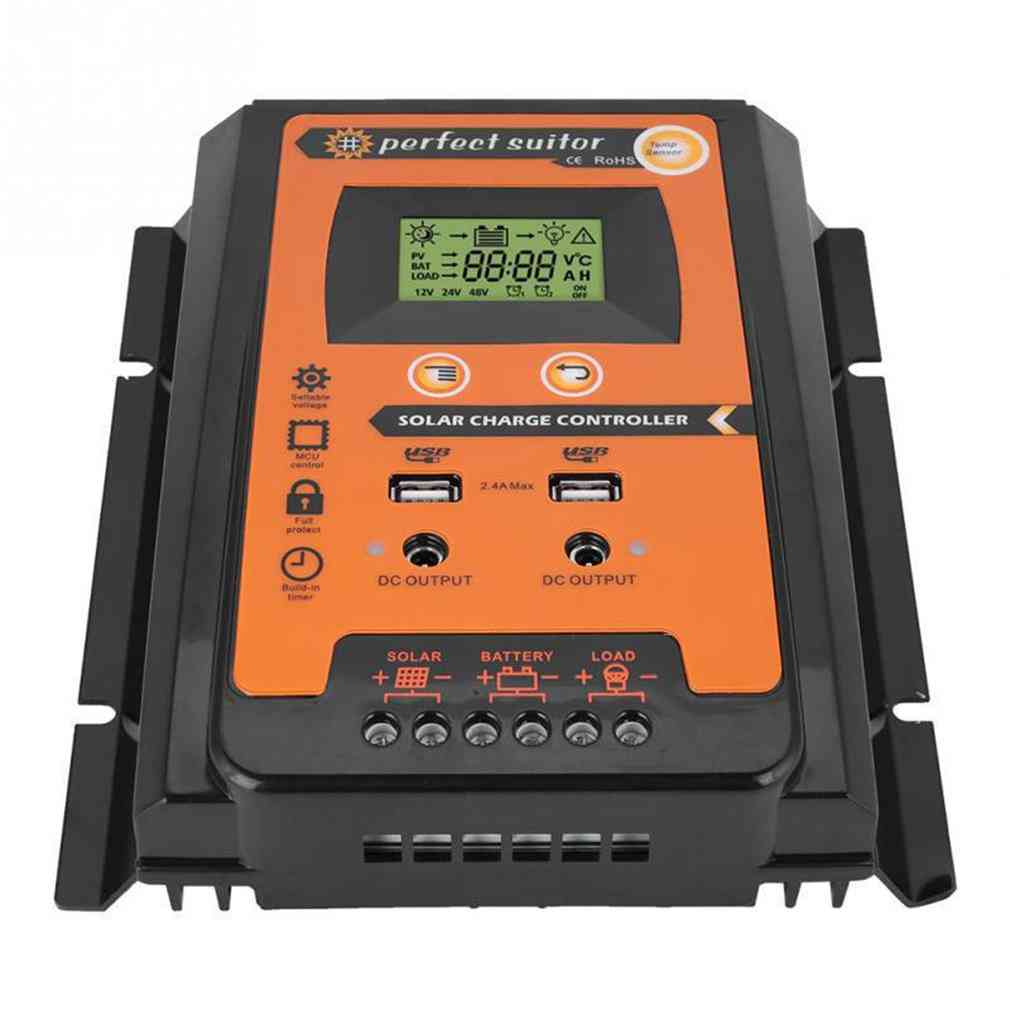 Pwm Auto Solar Charge Discharge Controller With Lcd Battery