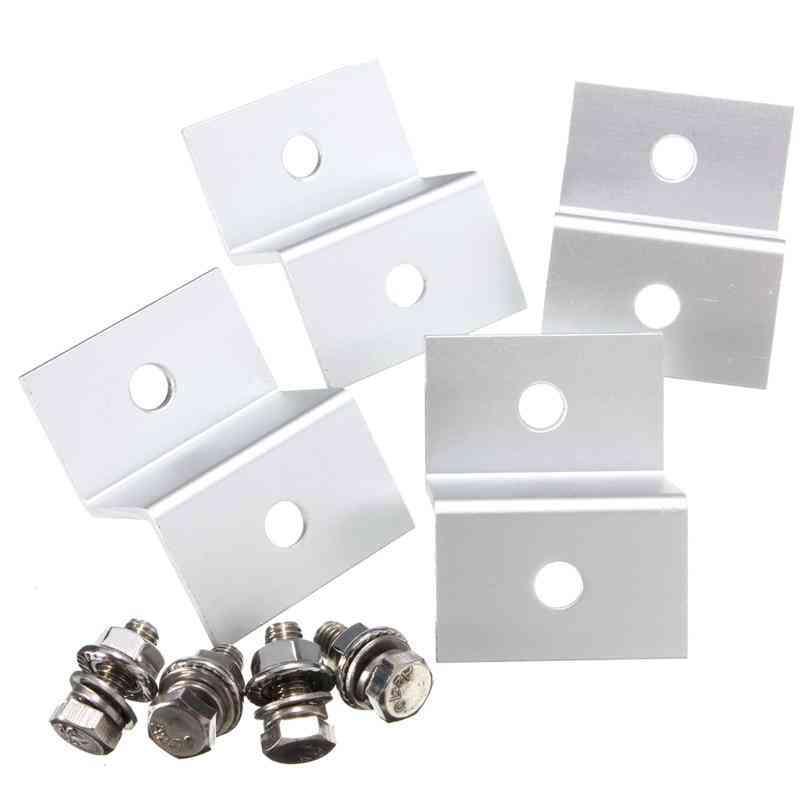 Aluminum Alloy Z Style Solar Panel Mounting Brackets With 4 Screw Fittings