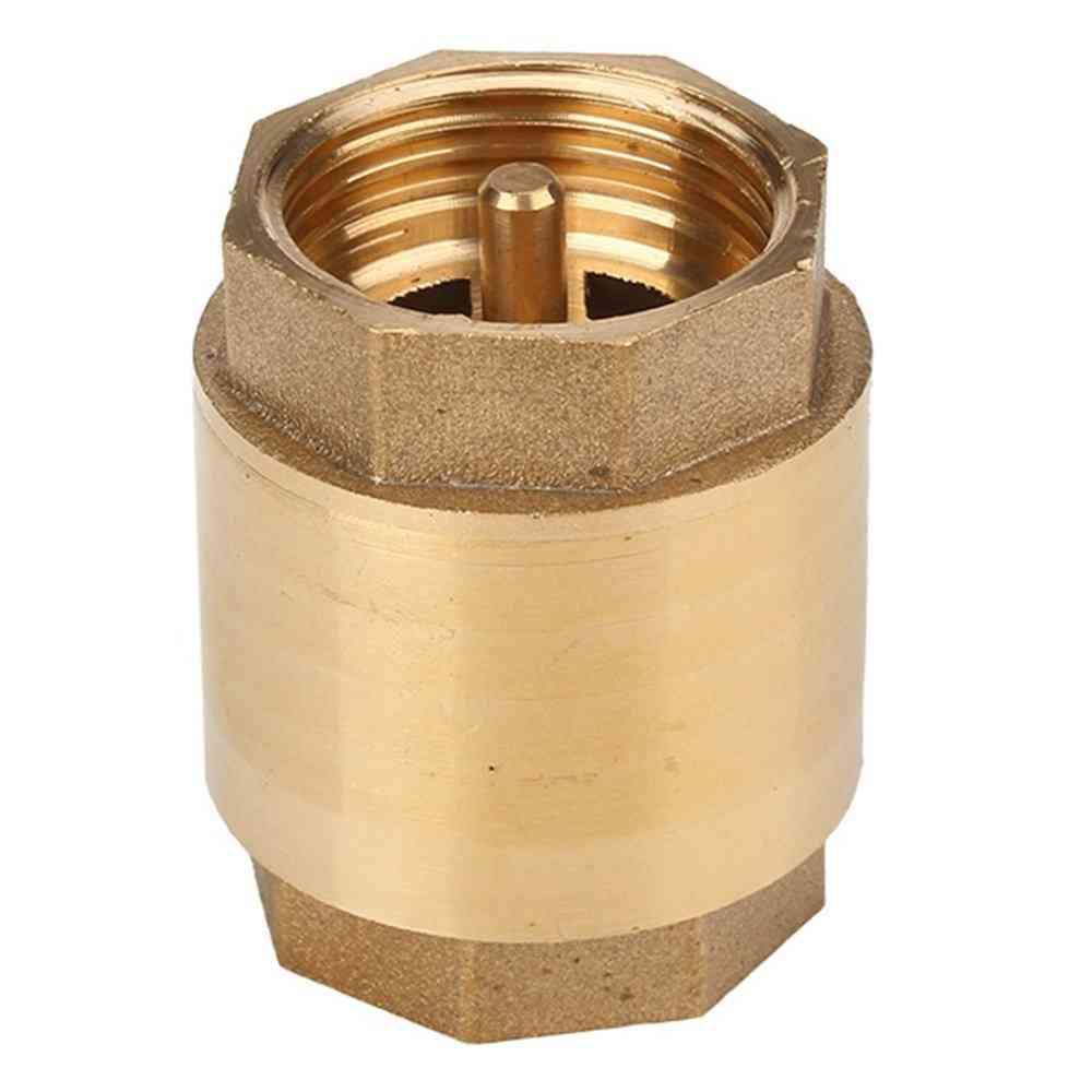 Brass 3/4 Inch, Spring Thread In-line Check Valve