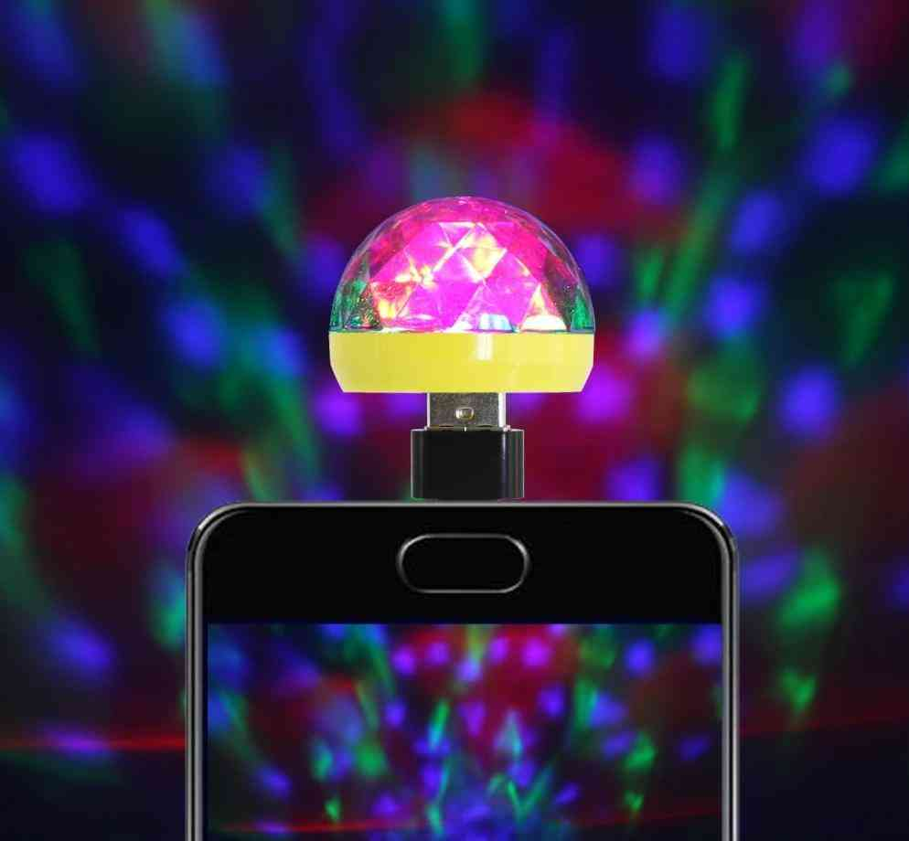 Usb Stage Light - Disco Music Magic Ball Lamp For Mobile Phone, Pc & Power Bank