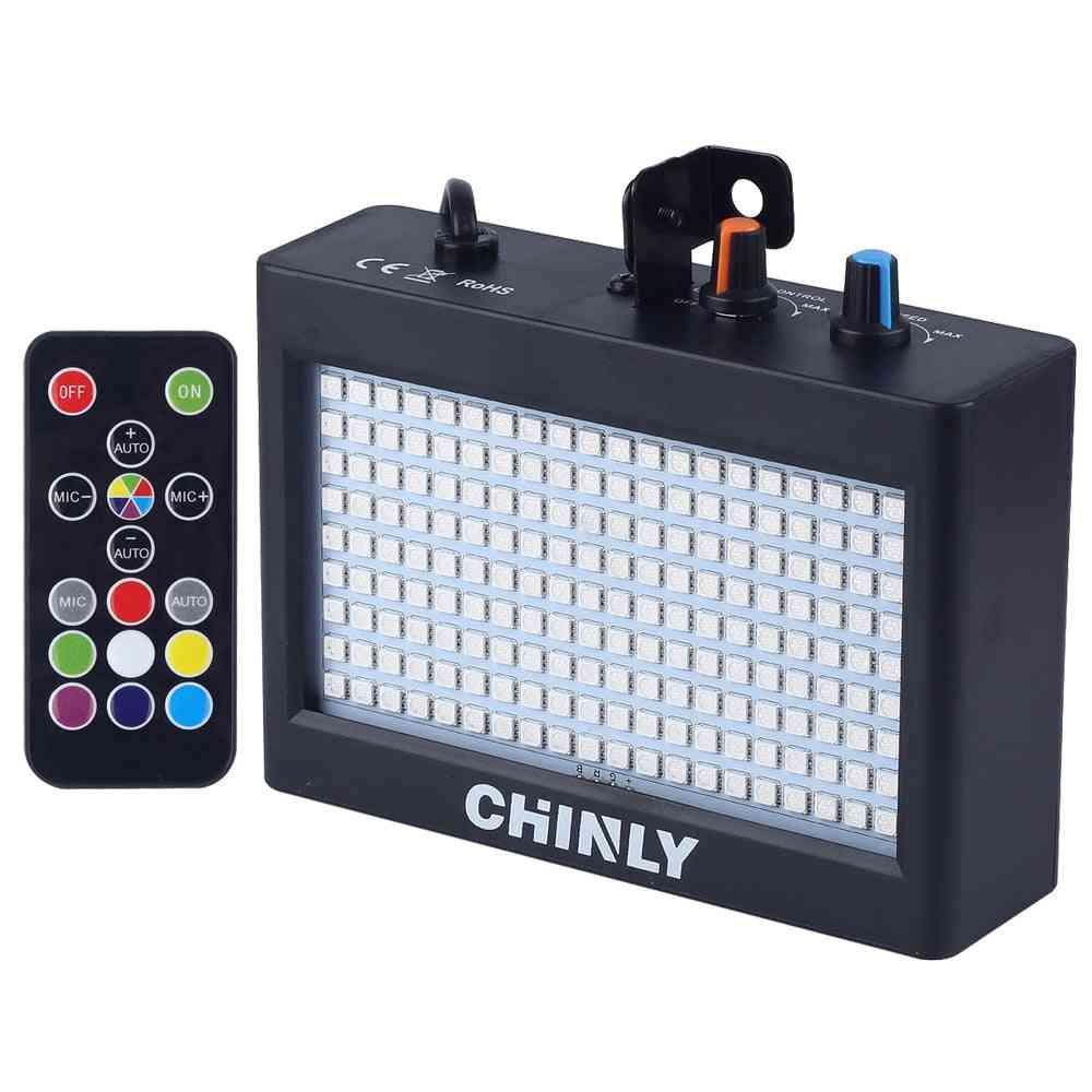 180 Leds Strobe, Flash Light -portable 35w Rgb With Remote Sound Control