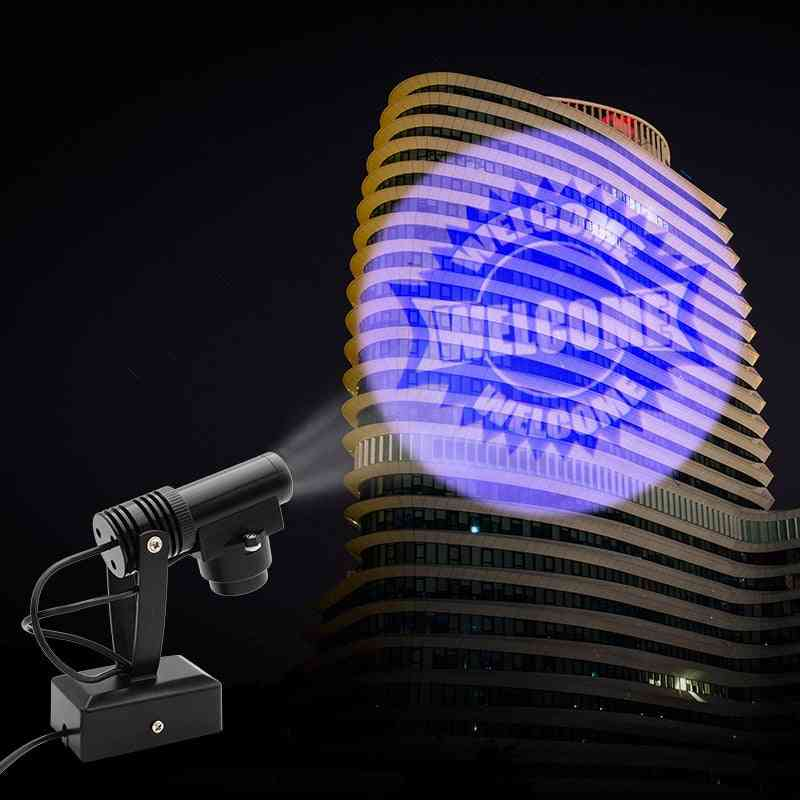Welcome Projection Spot Light 110v / 220v, Us/eu Plug Rotating Lighting