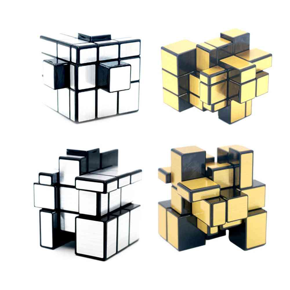3x3x3 Mirror Magic Cube Puzzle With Stickers