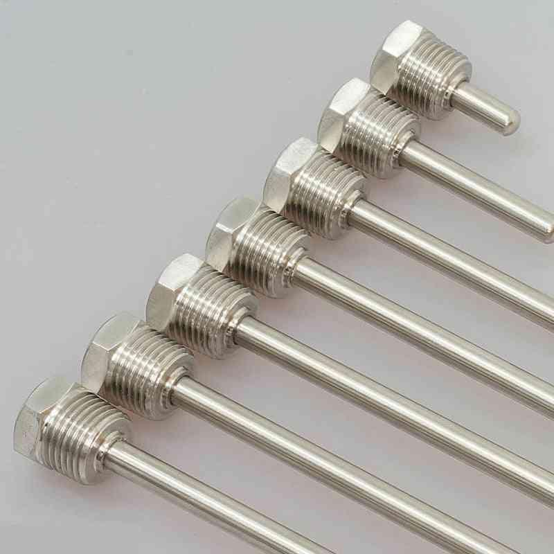 Thermowell, Thread Stainless Steel, Waterproof Solar Temperature Sensor