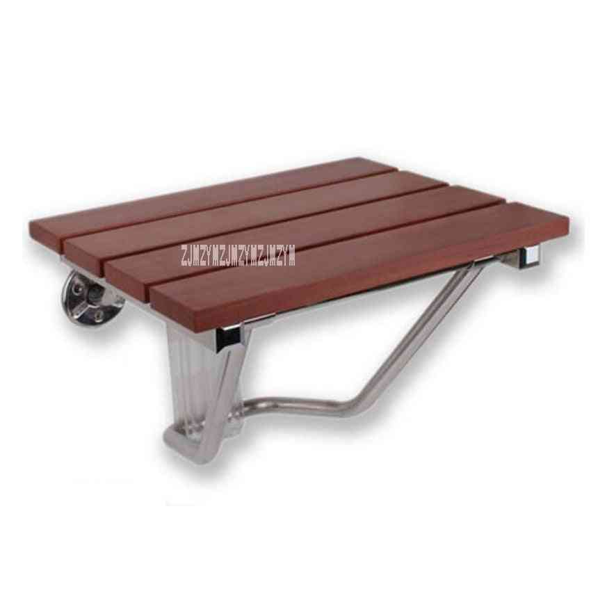 High-quality Solid Wood, Folding Shower Seat