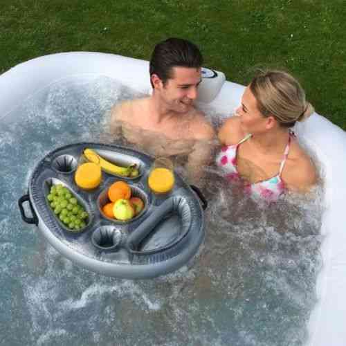 Spa Pool Hot Inflatable Tub - Floating Food Shelf