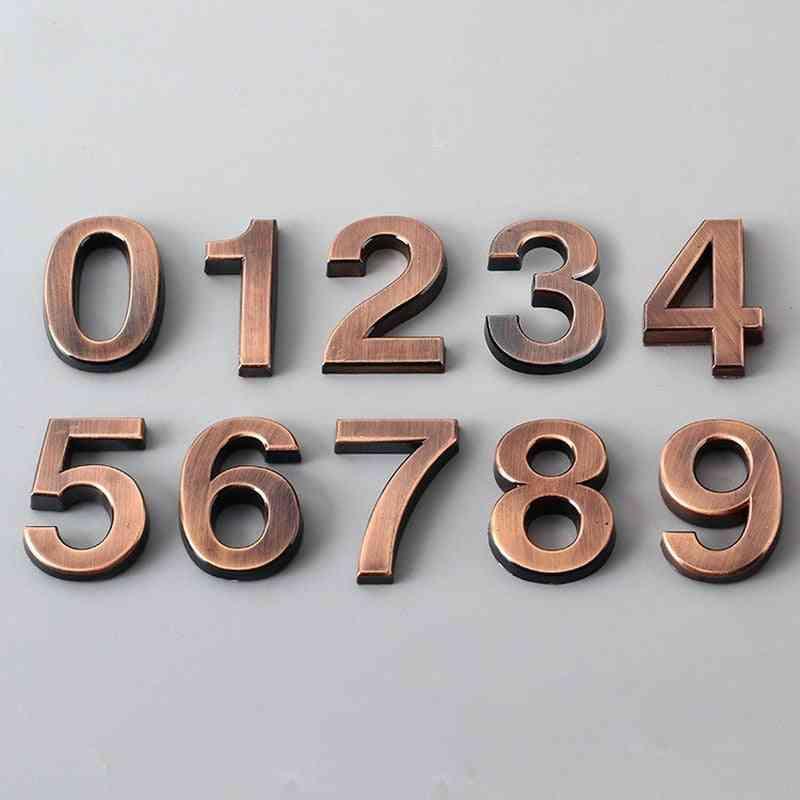 0-9 Modern 3d Hotel Apartment Door Number - Plastic Name Plate