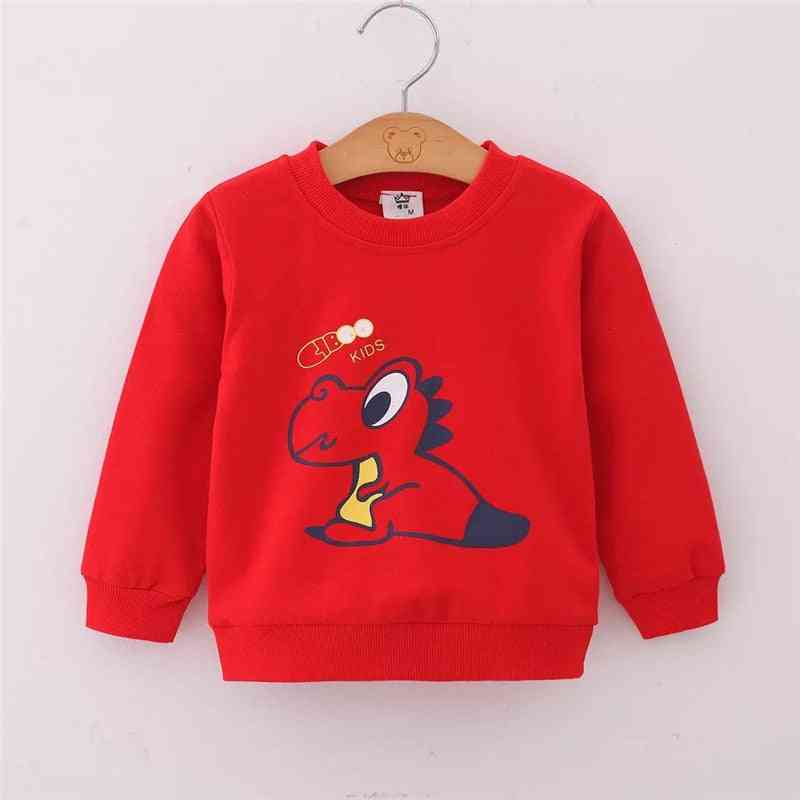 Boys & Spring / Autumn Long Sleeve Cartoon Dinosaur Print Pullover Tops