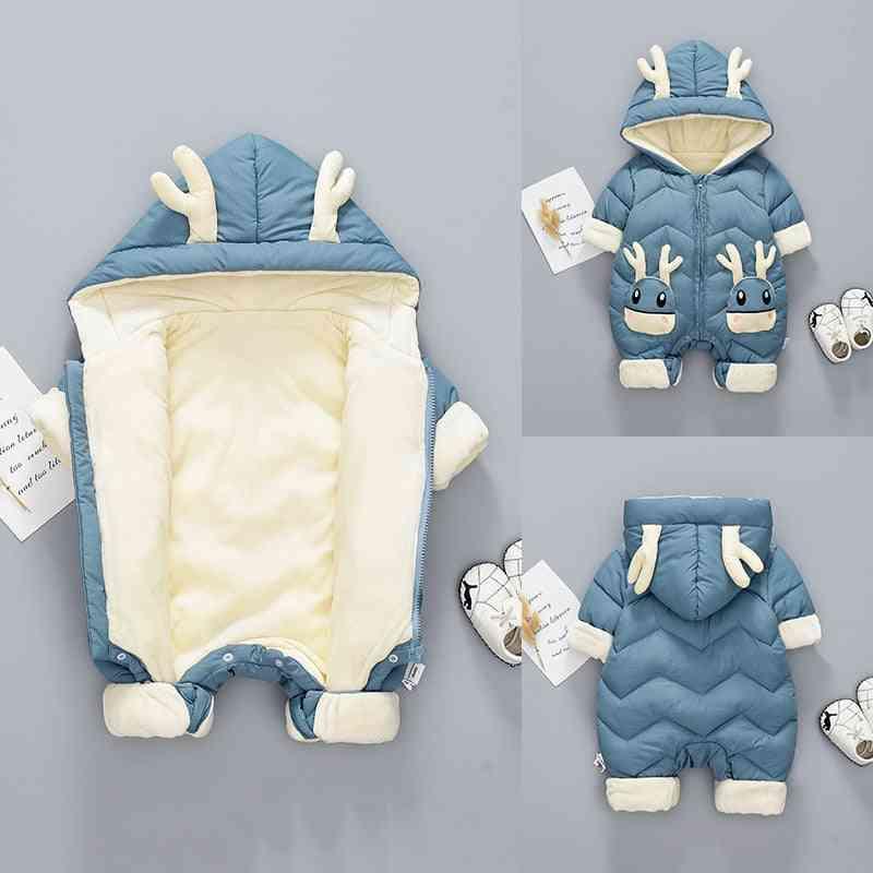 Winter Snowsuit Plus Velvet Thick Jumpsuit