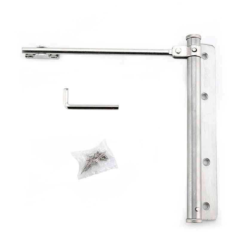 Adjustable Door Closer- Stainless Steel Automatic Spring Latch Hinge