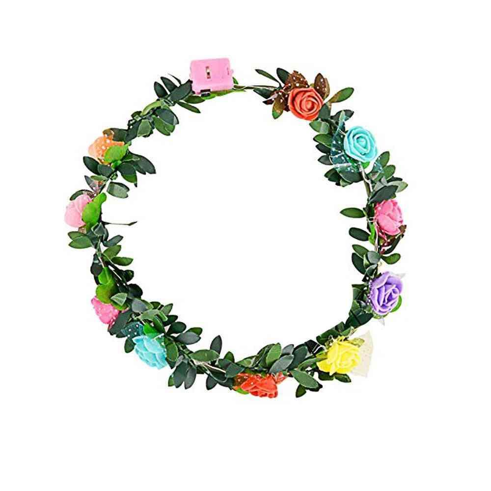 Headband Led Flower For - Head Hair Accessories