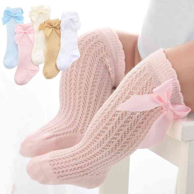 Cute Cotton Bowknot, Knee High Socks For Infant/toddler