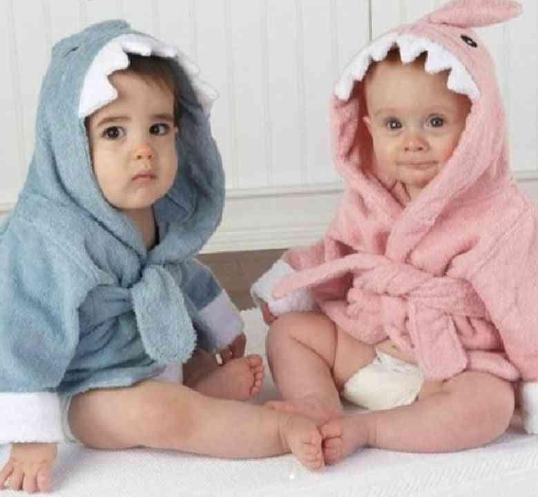 Cartoon Hooded, Bathrobe Towel For Baby