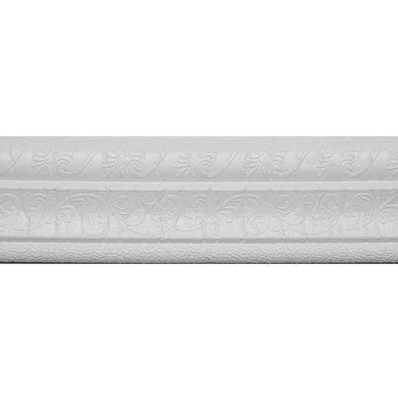 Self Adhesive Waist Line Waterproof Sticker, 3d Printed Wallpaper Decor - Wall Edge Borders