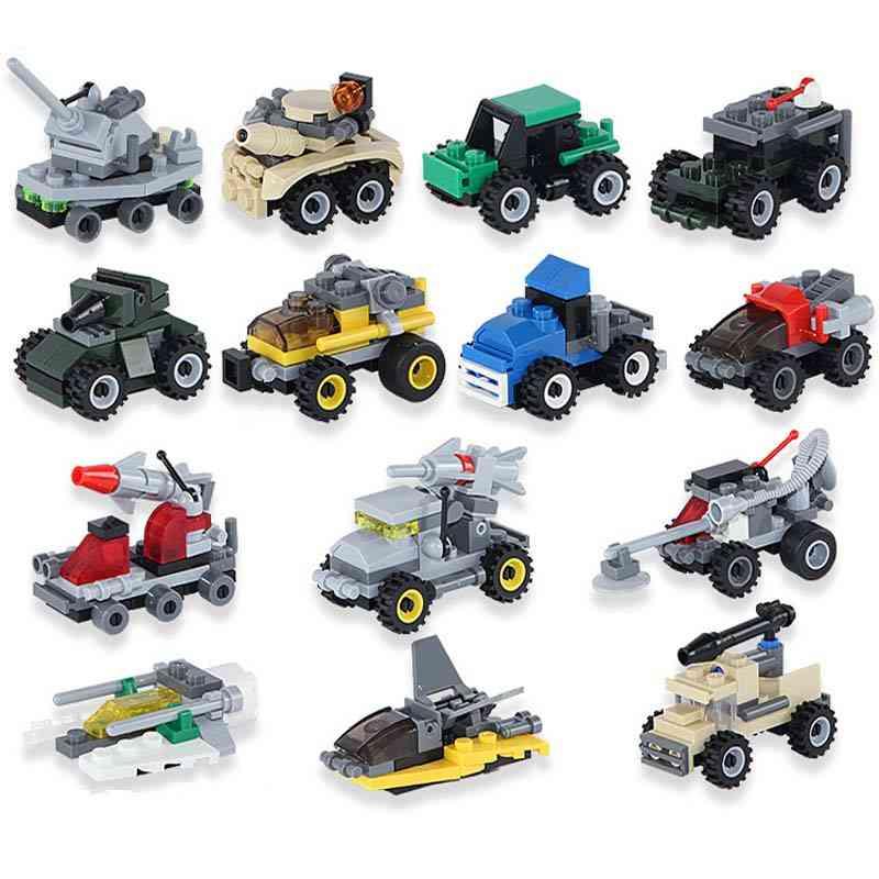 Mini Transportation Tank, Plane, Car - Educational Assembled Models Building Blocks