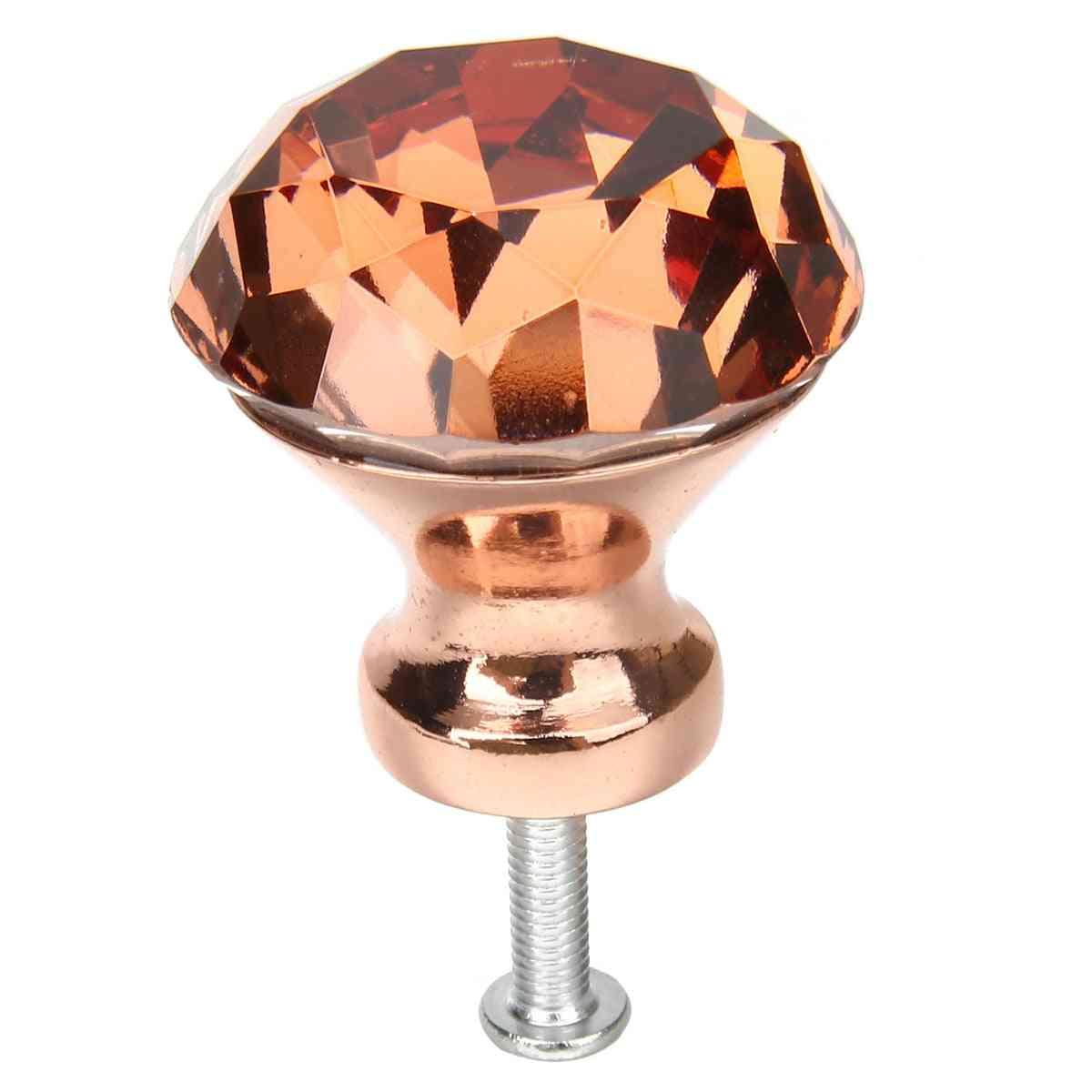 Crystal Diamond Knob, For Door/kitchen Drawer, Cabinets