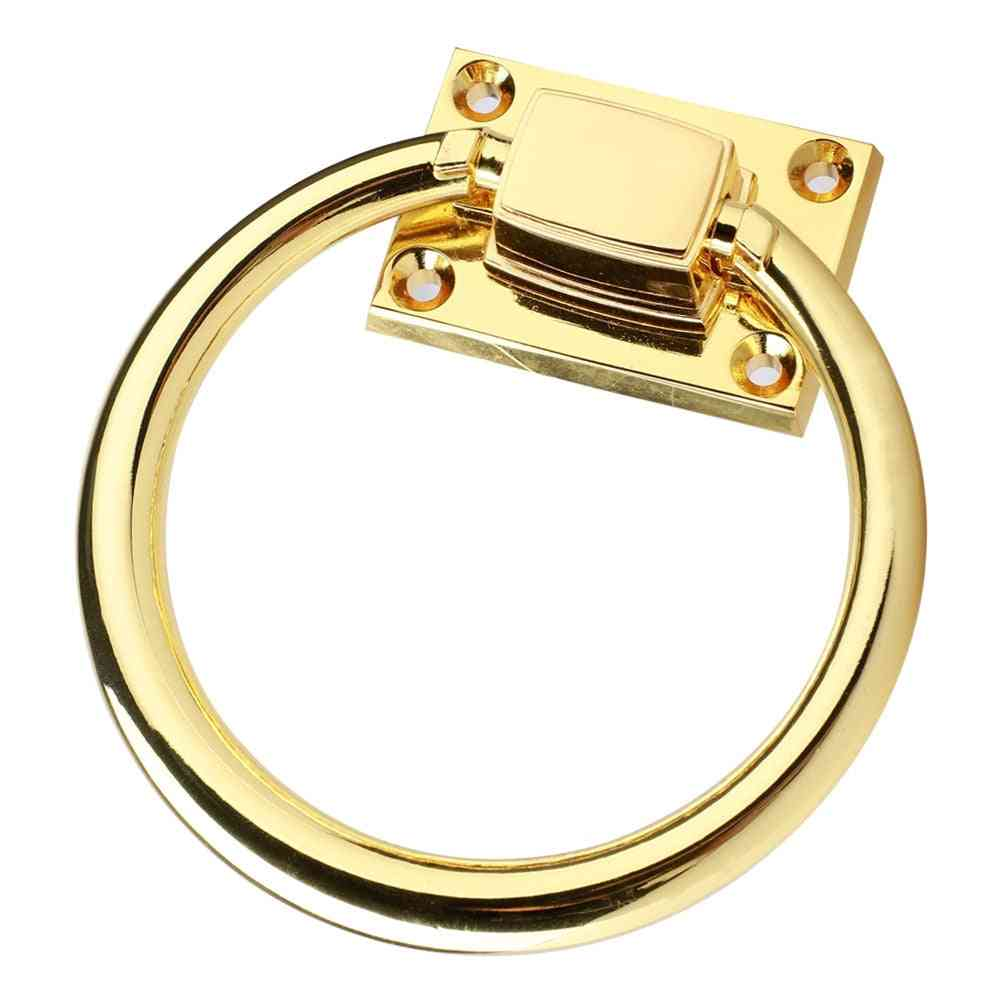 Aluminum Alloy, Round Shaped-door Ring, Pull Handle With Screws
