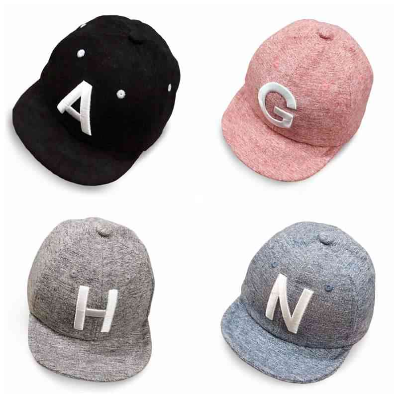 Cotton Baby Letter Cap - Adjustable Baseball Caps, Snapback Hip-hop Sun Hat