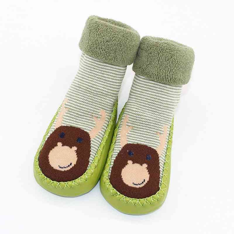 Warm Booties Sock With Rubber Soles For Newborn