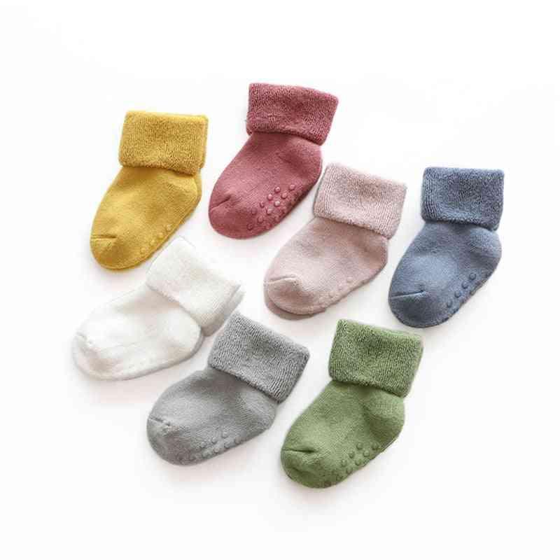 Anti Slip, Winter Warm Thick Socks For Newborn