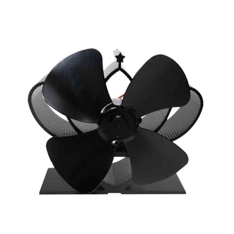Self-powered Fireplace Stove Fan With 4 Blades