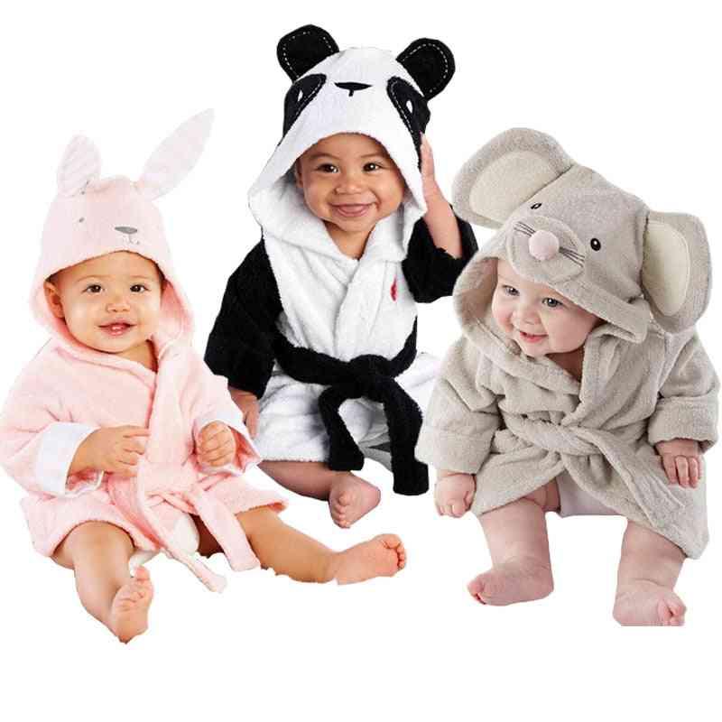 Animal Cartoon Hooded, Bath Soft Towel Wrap & Nightwear