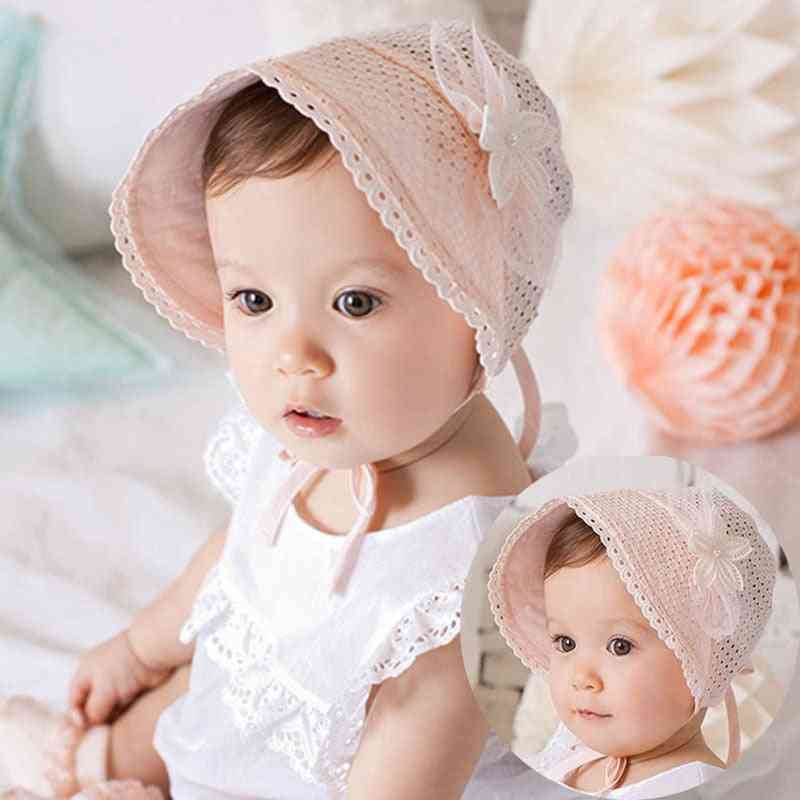 Spring Summer Cute Princess- Baby Lace Hat With Bow