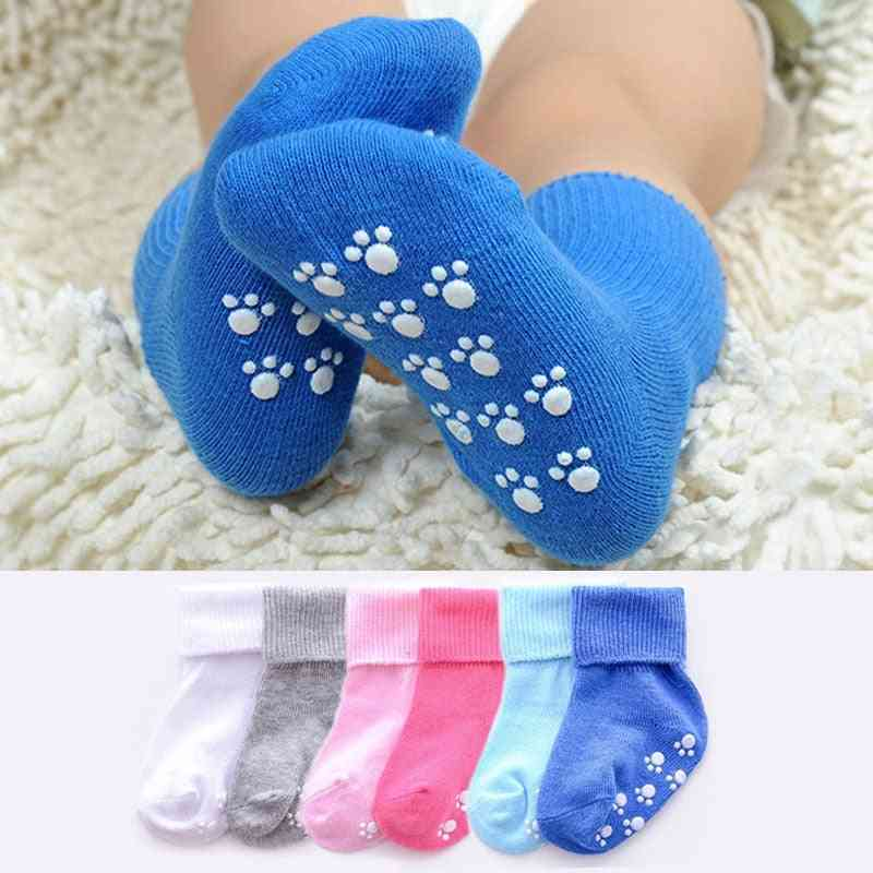 Candy Color, Anti Slip Cotton Socks For Kids