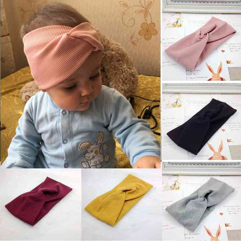 Spring / Summer Baby Headband Unisex Twisted Knotted, Soft Elastic Girl Hair Accessories