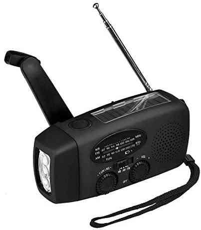 Emergency Portable Am Fm Radio Power Bank Torch