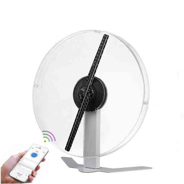 3d Holographic Fan Light With Acrylic Cover