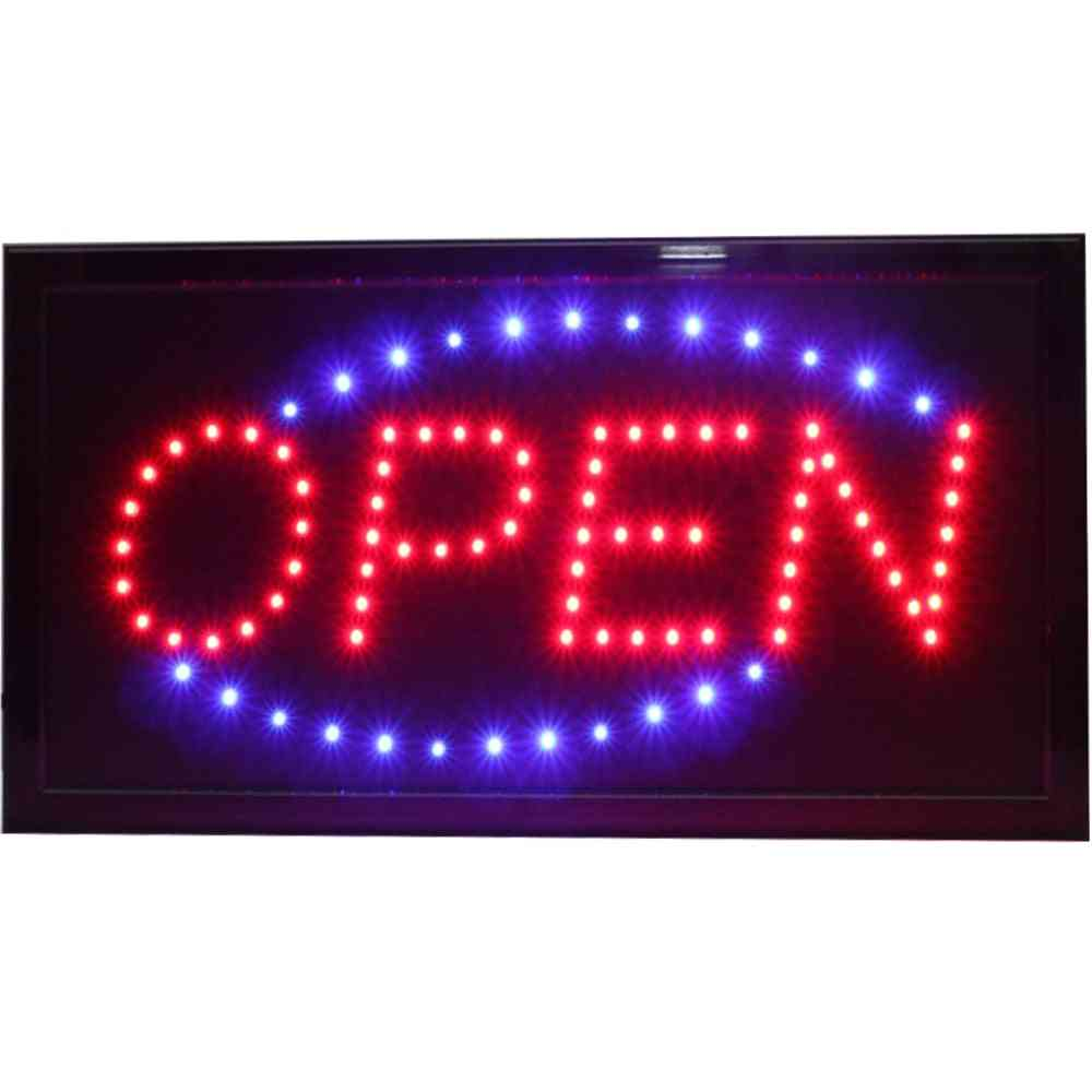 Super Brightly Led Open Store Business Shop Neon Signs Animated Motion Running With Switch Us/eu/au/uk Plug Indoor