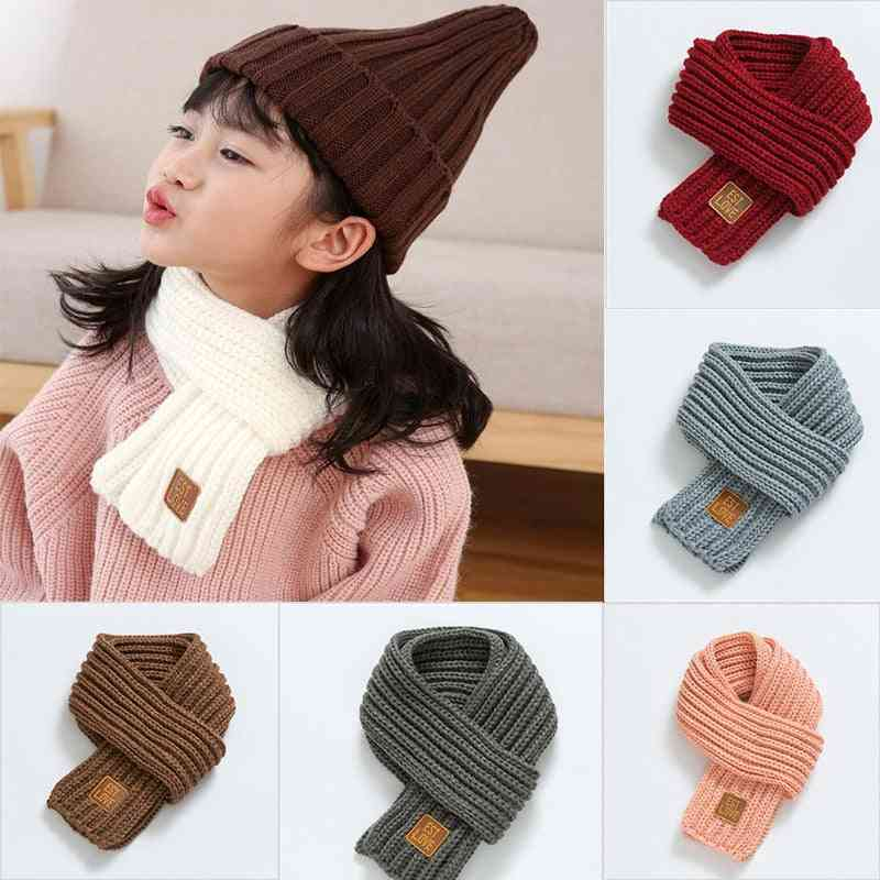 Leather Label, Knitted Woolen Scarf
