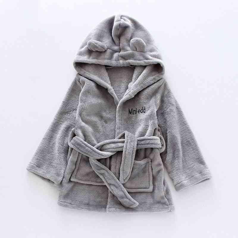 Autumn / Winter Kids Sleepwear - Robe Flannel Warm Bathrobe