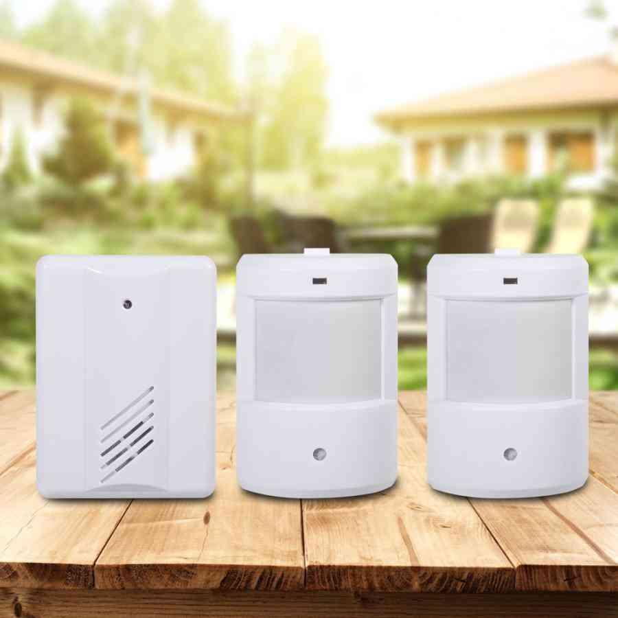 Pir Motion Sensor Detector, Wireless Door Bell For Alert - Home Security System
