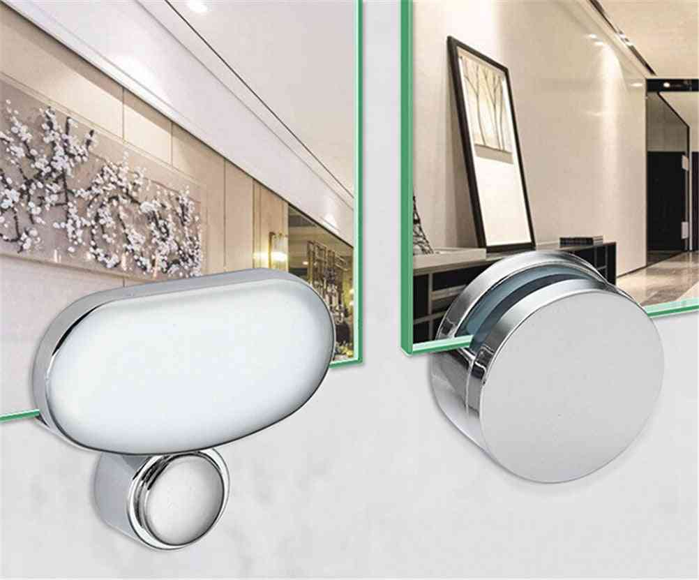 Mirror Glass Hinger, Fixed Advertising Plate