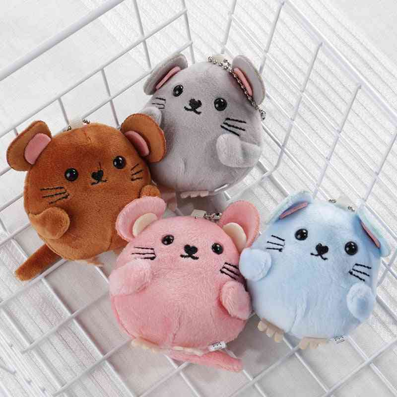 Cute Stuffed, Fluffy Mouse Toy For Newborn