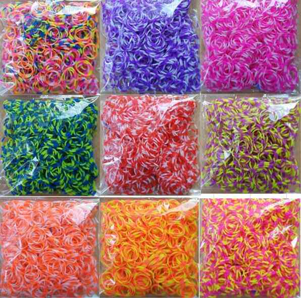Rainbow Rubber Loom Bands - Make Woven Bracelet