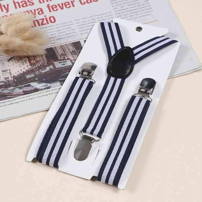 Boys & Adjustable Striped Suspenders