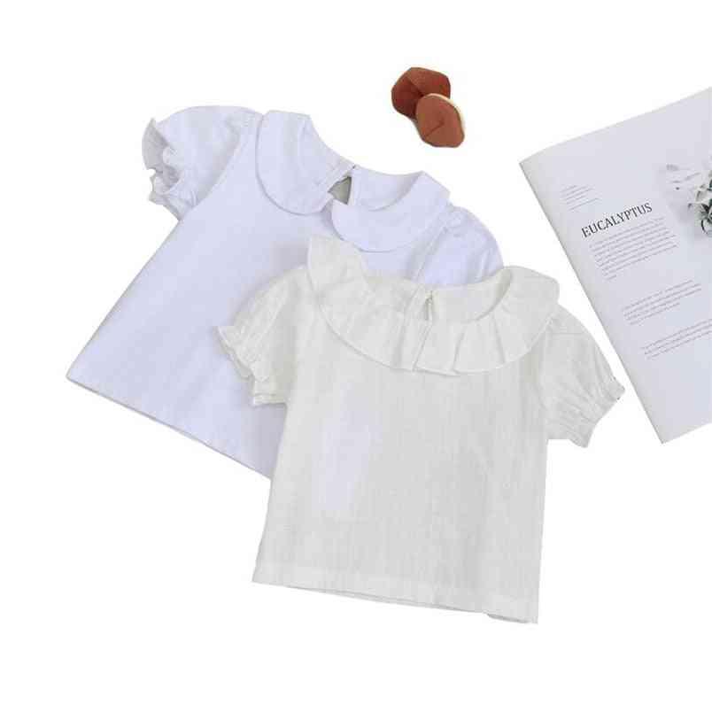 Summer T Shirt For - Cotton Short Sleeve Blouse