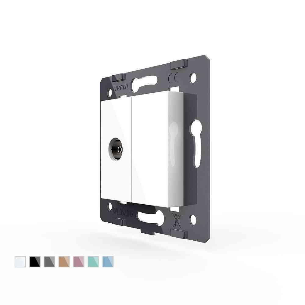 Eu  Standard, Wall Embeded And Semi Gloss Finish Socket And Switch Module