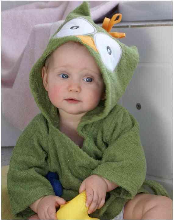 Spring Autumn Baby / Nightgown Cartoon Cute Hooded- Animal Towel Newborn Bathrobe, Infant Dressing Gown